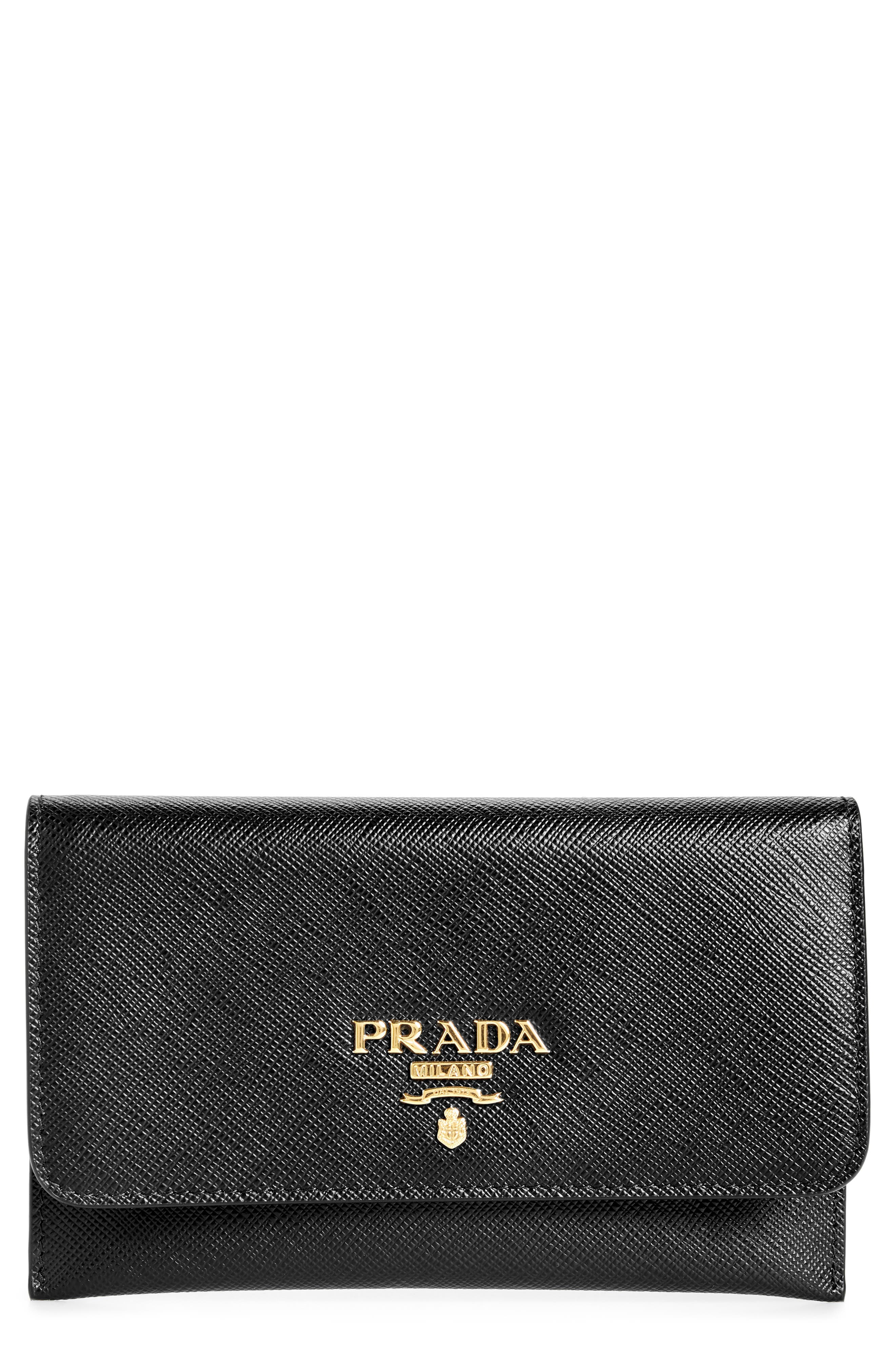 a5c56f4c351d4e ... closeout prada saffiano leather envelope card case 7a052 709cd