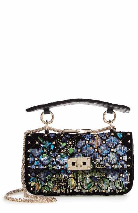83f1da725f0a VALENTINO GARAVANI Small Spike.It Floral Sequin Bag