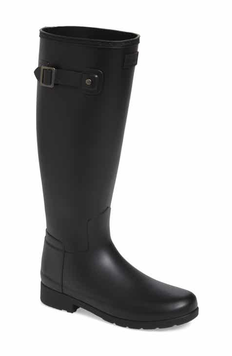 Hunter Original Refined Waterproof Rain Boot (Women) (Regular   Narrow Calf) 7c4519ae647