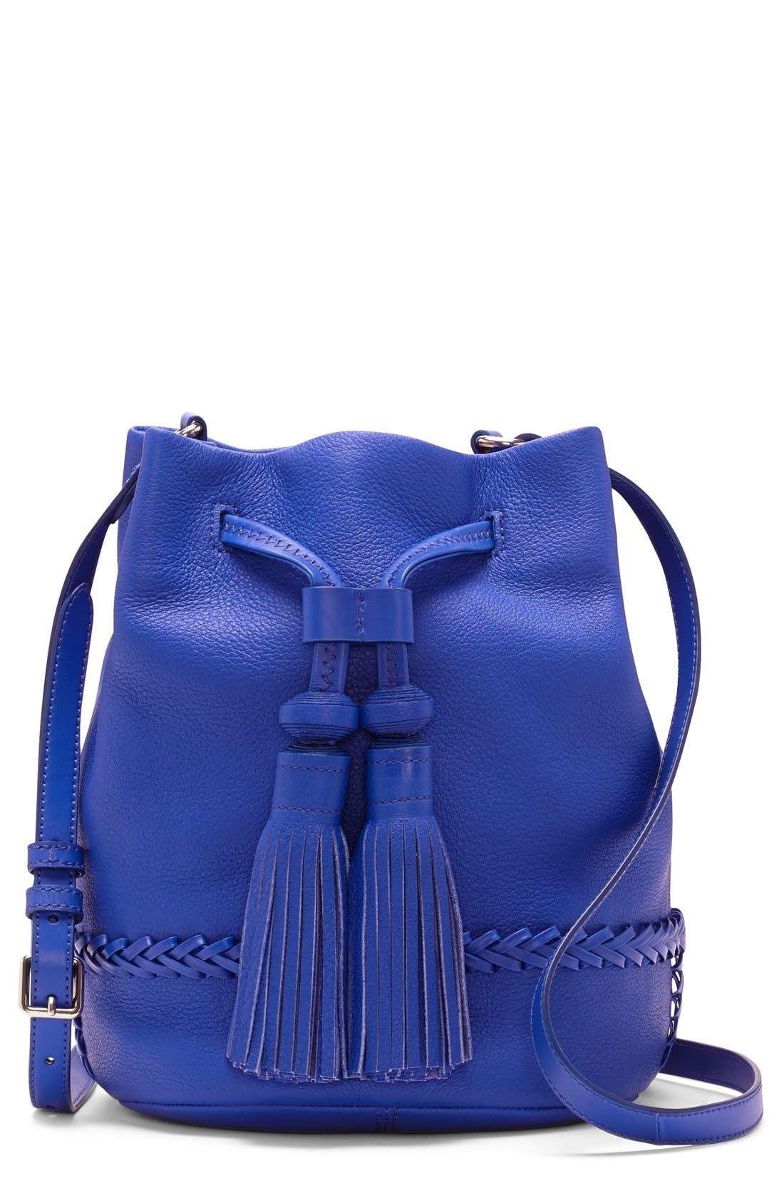 Alternate Image 1 Selected - Vince Camuto 'Leigh' Leather Crossbody Bag