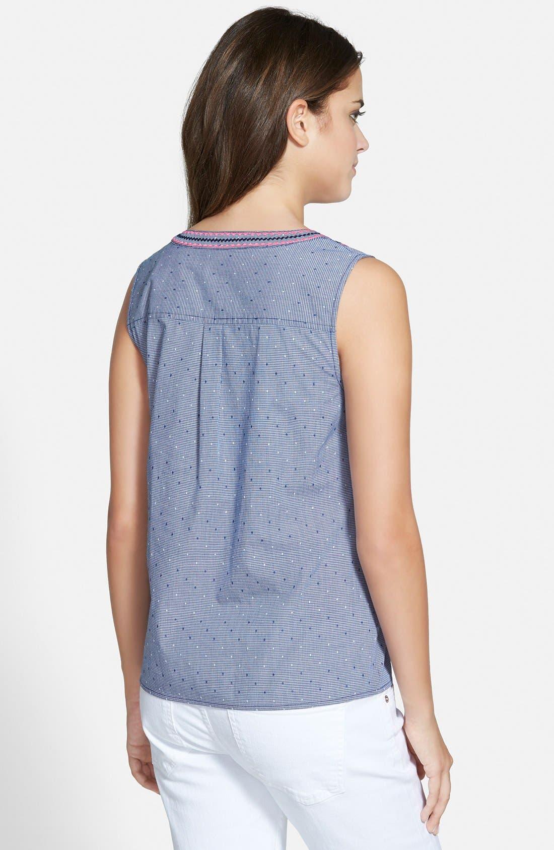 Alternate Image 2  - Vineyard Vines Embroidered Sleeveless Top