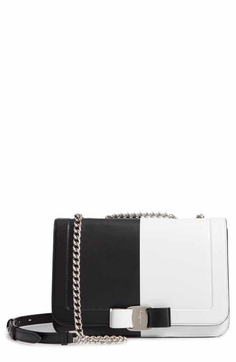 d1ca4a629d Salvatore Ferragamo Vara Colorblock Leather Shoulder Bag