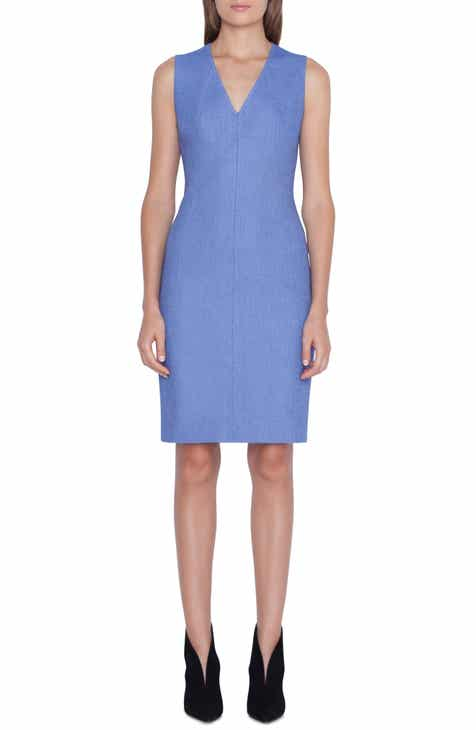 Akris Piqué Seamed Sheath Dress by AKRIS