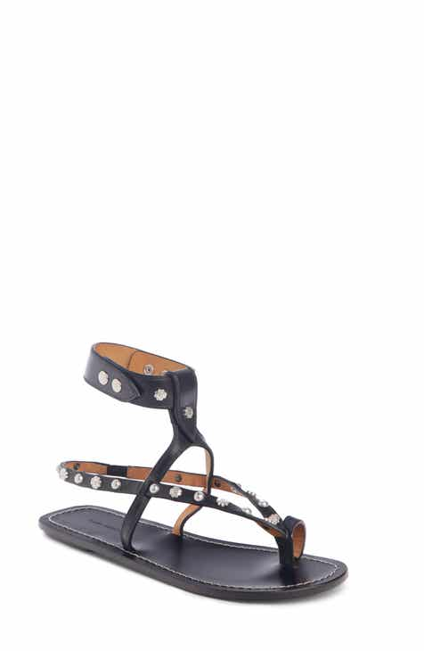 02c02be3b Isabel Marant Engo Flower Studded Gladiator Sandal (Women)