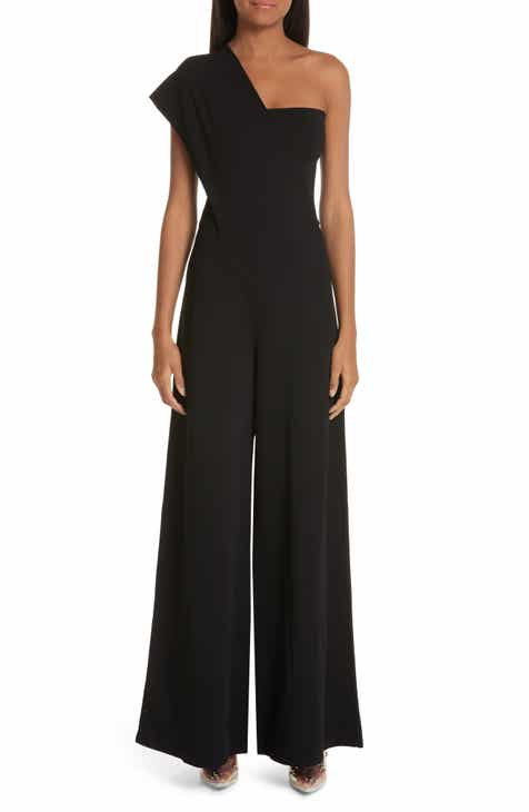 Stella McCartney One-Shoulder Wide Leg Knit Jumpsuit by STELLA MCCARTNEY