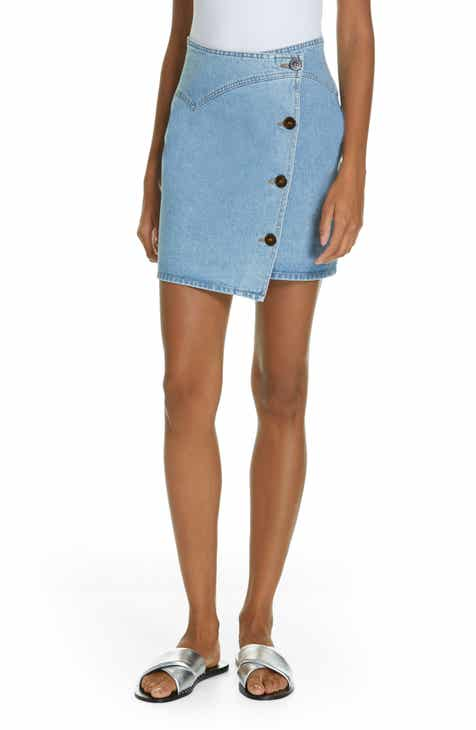 Nanushka Amita Denim Wrap Skirt by NANUSHKA