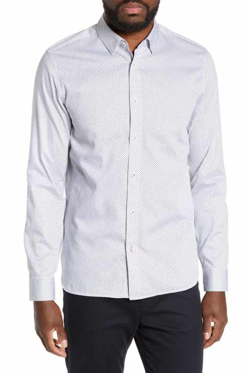 eea6565ed10084 Ted Baker London Subik Slim Fit Geo Print Sport Shirt