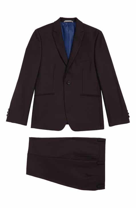 Andrew Marc Plain Two-Piece Suit (Big Boys)