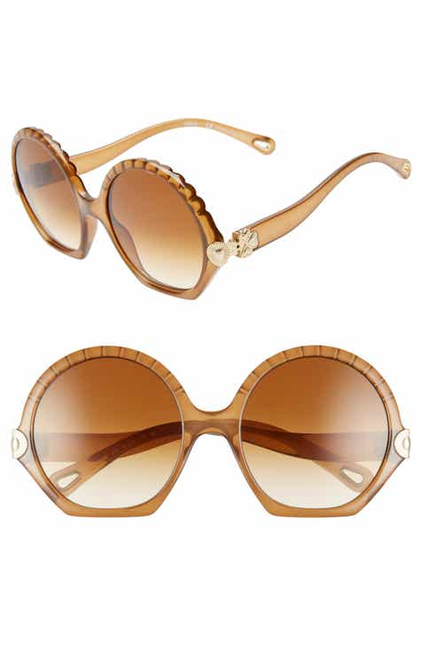 4dc660ea65 Chloé Vera Seashell 56mm Round Sunglasses