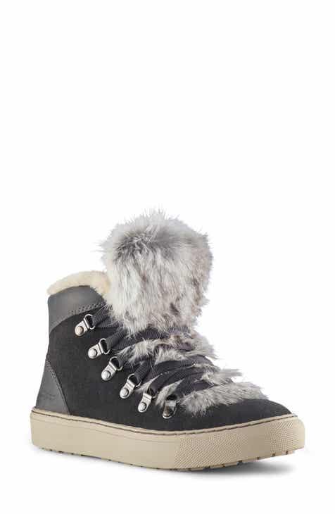 e7aadd43280327 Cougar Dani High Top Sneaker with Genuine Rabbit Fur Trim (Women)