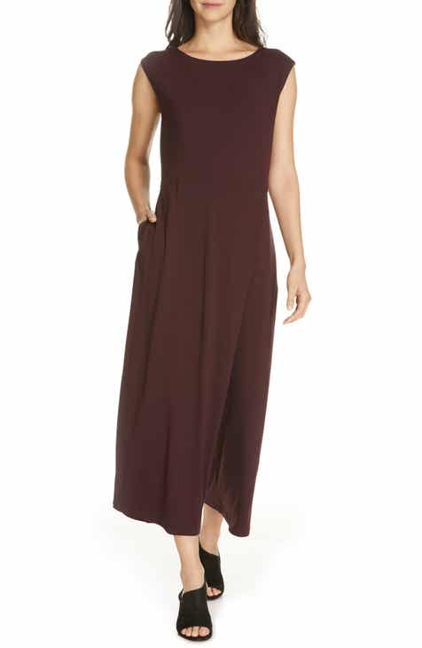 0a502d5529 Eileen Fisher Bateau Neck Jumpsuit (Regular   Petite)
