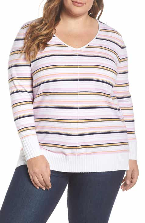 181484f9768eb Caslon® Side Slit Sweater (Plus Size)