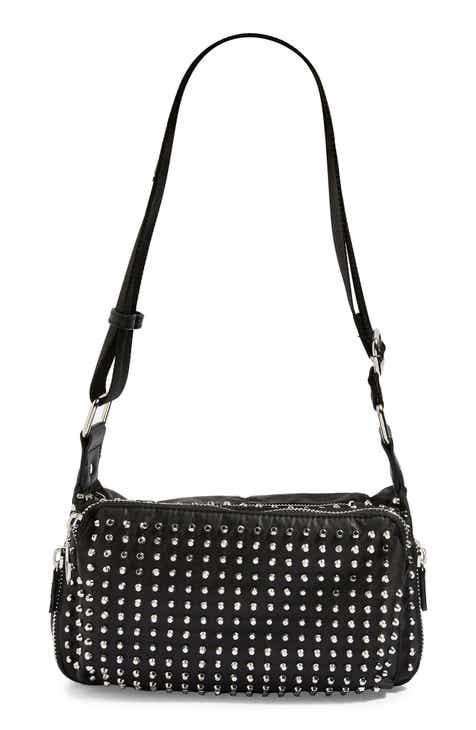7f458b3500a2 Topshop Tokyo Studded Nylon Shoulder Bag