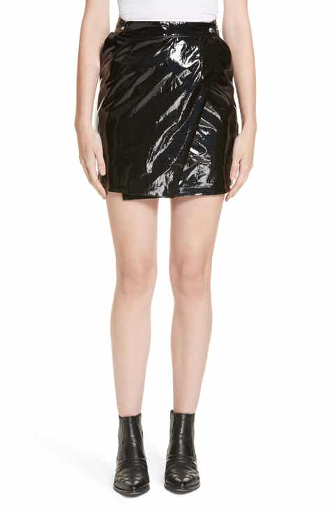 Roseanna Town Faux Patent Leather Wrap Miniskirt by ROSEANNA