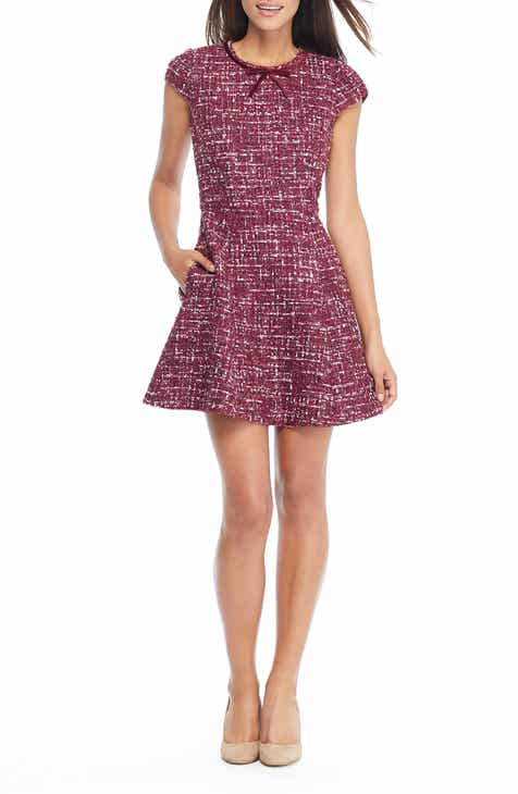 2e10e217b0 Gal Meets Glam Collection Nell Bouclé Dreams Tweed Fit   Flare Dress  (Regular   Petite)
