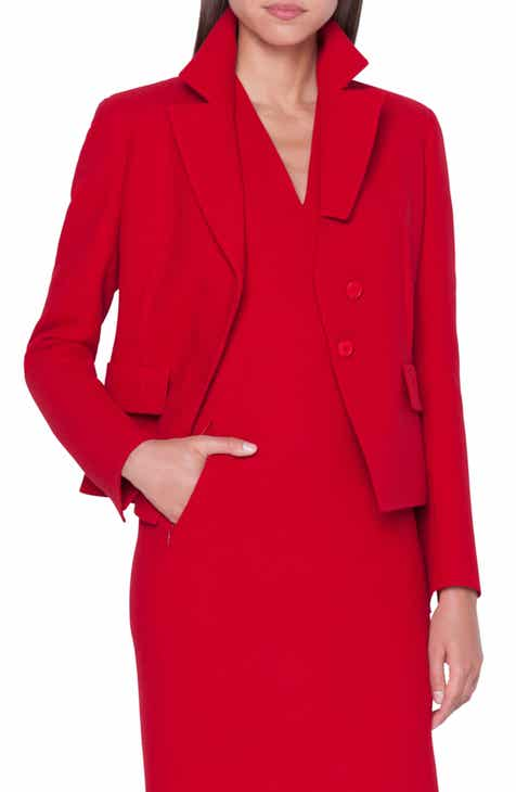 Max Mara Laser Single Button Wool Jacket by MAX MARA