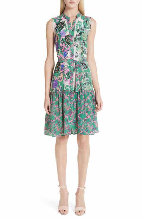 a5abe39c107 SALONI Tilly Print Silk Dress