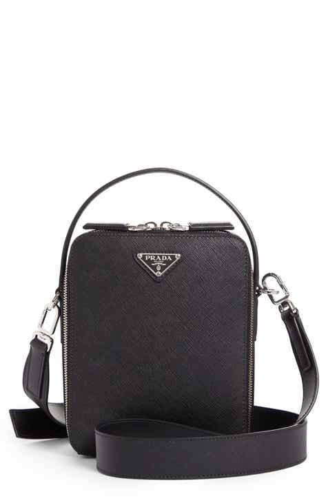 f5555ea56313 Prada Small Saffiano Calfskin Leather Messenger Bag