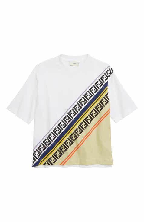 28da3ec2138 Fendi Angle Logo T-Shirt (Big Boys)