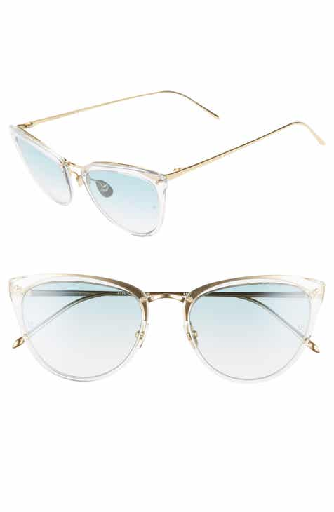 3106d6338f61 Linda Farrow 53mm Gold Gradient Cat Eye Sunglasses