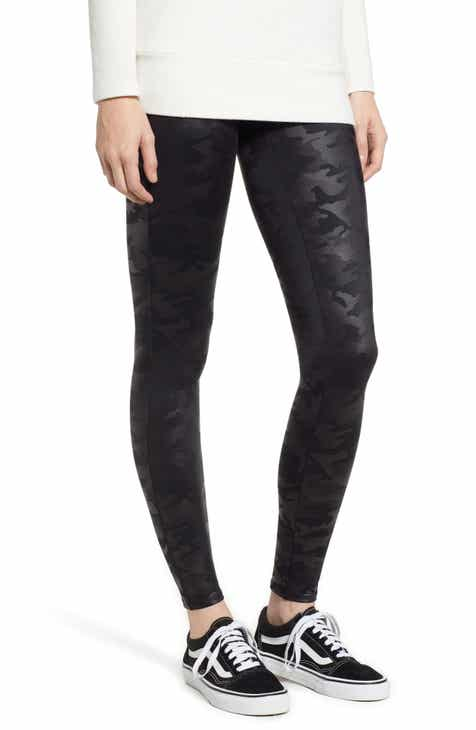 0374db7cd17 SPANX® Camo Faux Leather Leggings (Petite)