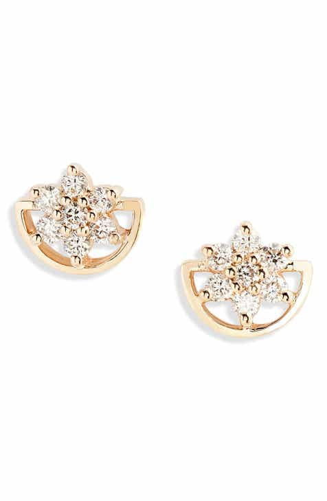 Dana Rebecca Jennifer Yamina Flower Stud Earrings
