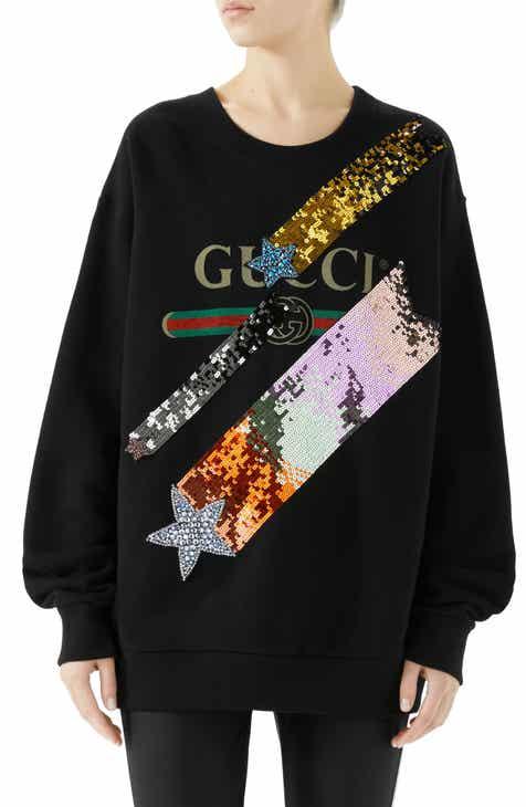 cfa91745af4 Gucci Lightning Sequin Logo Sweatshirt