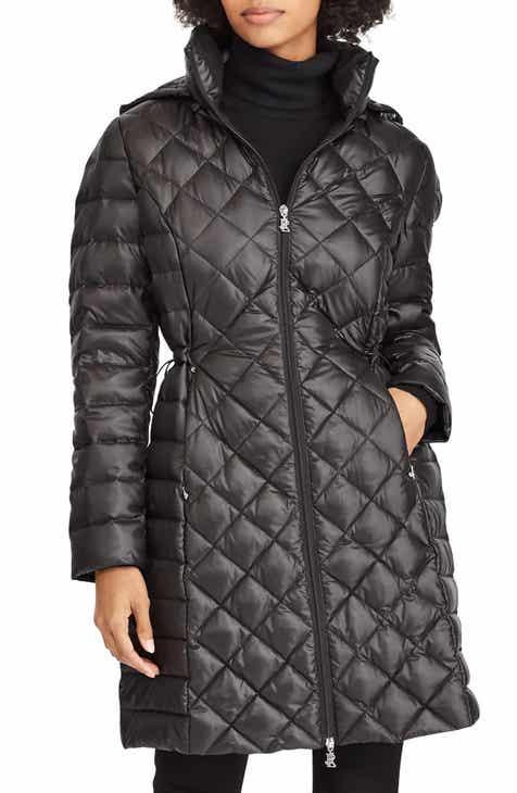 Lauren Ralph Lauren Down Packable Quilted Hooded Coat