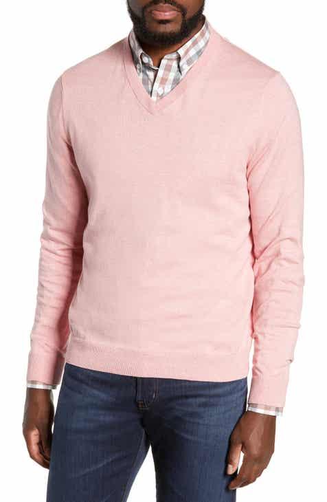 9a899466392 Nordstrom Men s Shop Cotton   Cashmere V-Neck Sweater (Regular   Tall)