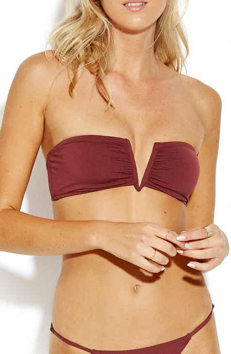 Seafolly Active V-Wire Bandeau Bikini Top by SEAFOLLY