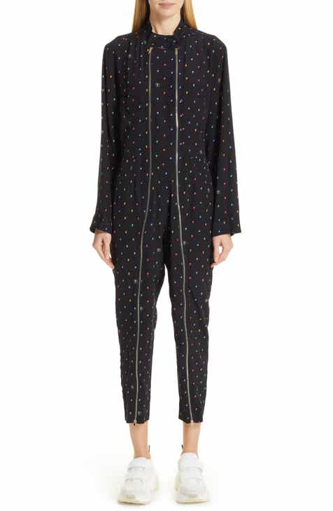 Stella McCartney Circle Print Silk Jumpsuit by STELLA MCCARTNEY