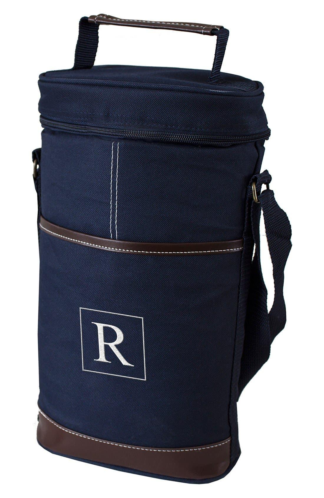 Monogram Wine Cooler,                         Main,                         color, Navy - R