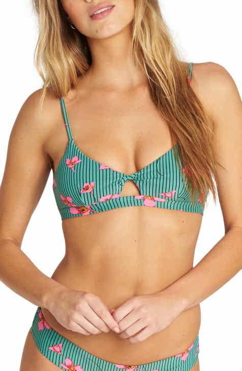 328424cd3cc Billabong Seain Green Twist Bikini Top