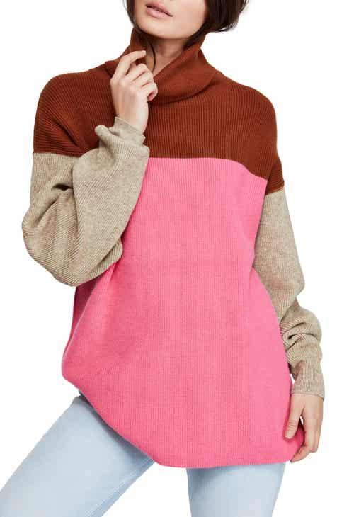 1e75666e61 Free People Colorblock Turtleneck Sweater