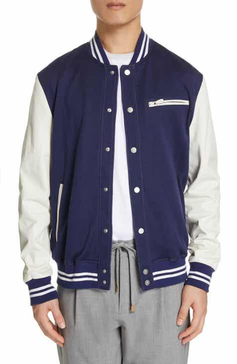 bfc417be4c5 Eleventy Mixed Media Varsity Jacket