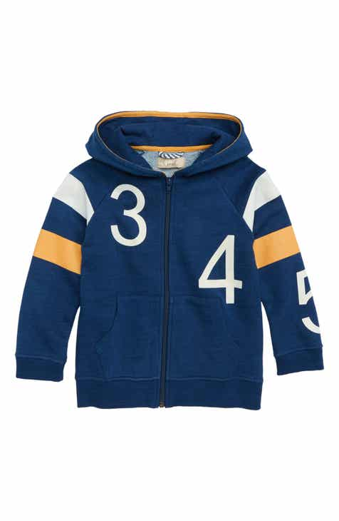 Peek Aren't You Curious Numbers Full Zip Hoodie (Little Boys & Big Boys)