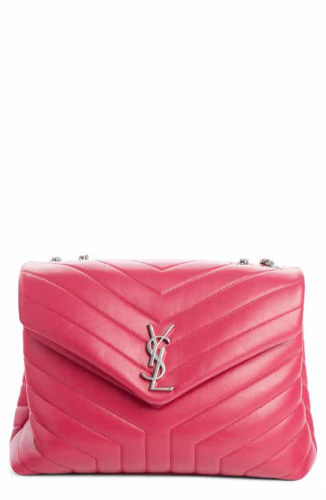 e52150fc77 Saint Laurent Medium Loulou Calfskin Leather Shoulder Bag