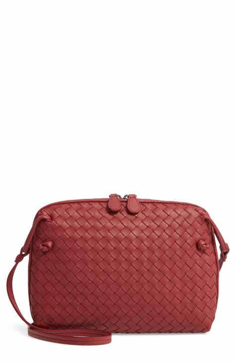 90a56ae9dc68 Bottega Veneta Nodini Woven Leather Crossbody Bag