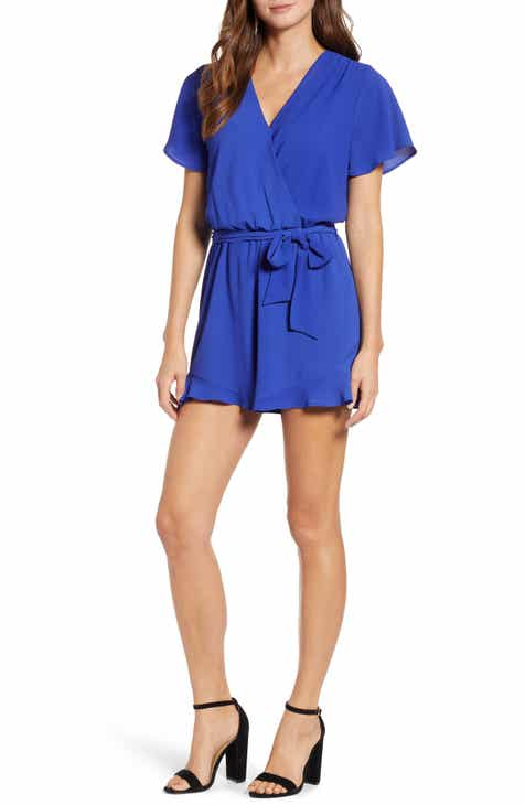 9a9cd0c916b14 Catalina Ruffle Hem Romper (Regular   Petite) (Nordstrom Exclusive)