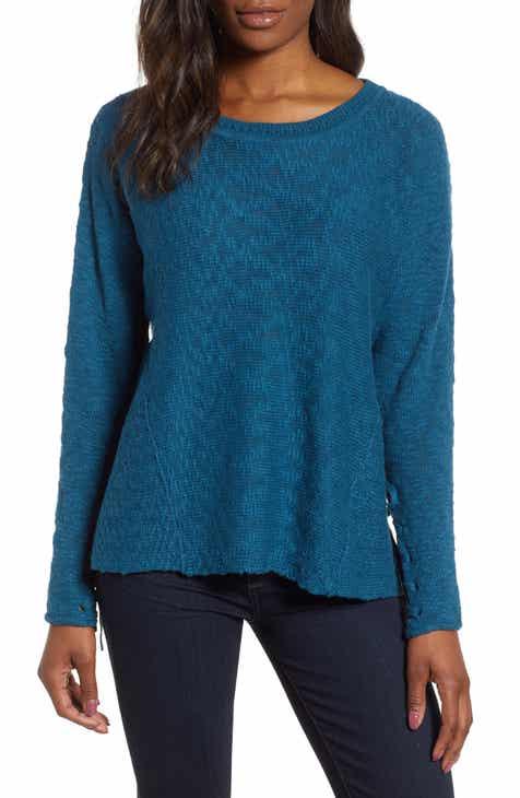 5b4c28fa7 Caslon® Mix Stitch Swing Cotton Sweater (Regular   Petite)