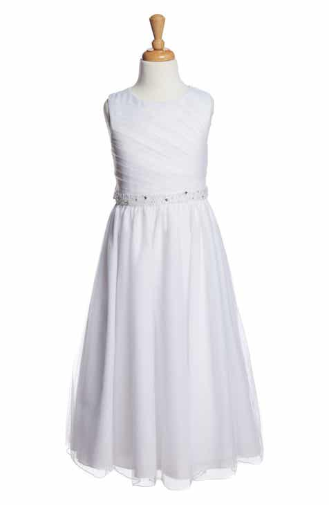 caca9bf6410 Lauren Marie Beaded Communion Dress (Little Girls   Big Girls)