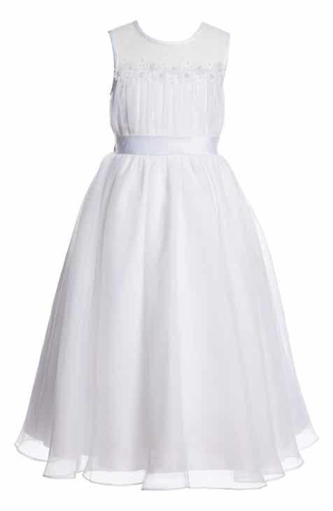 06107742629a Lauren Marie Embroidered First Communion Dress (Little Girls   Big Girls)