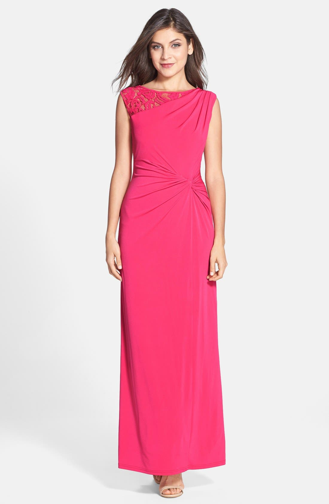Column Gown,                         Main,                         color, Rose