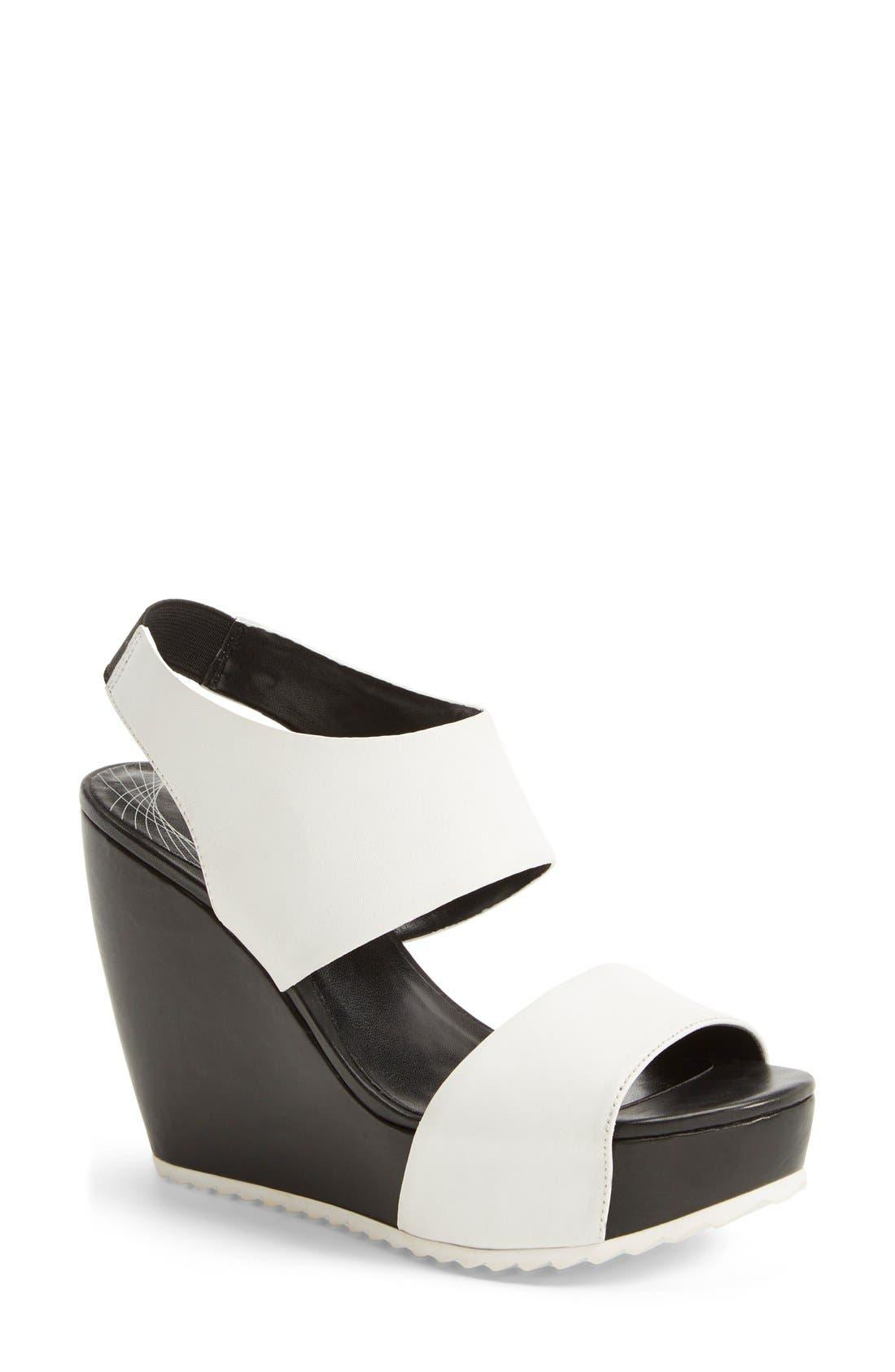 Main Image - Trouvé 'Morgan' Platform Wedge Leather Sandal (Women)