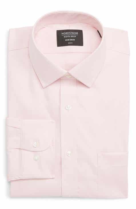 75a3b44fa2c Nordstrom Men s Shop Trim Fit Non-Iron Dress Shirt