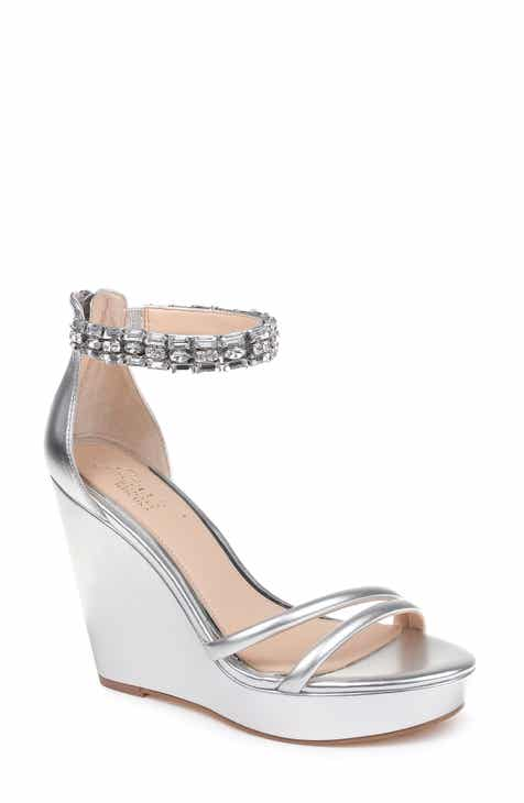d4aae9fdbaf Jewel Badgley Mischka Kathleen Ankle Strap Wedge Sandal (Women)