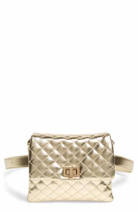 Mali + Lili Metallic Vegan Leather Belt Bag 6a93bc542a4b1