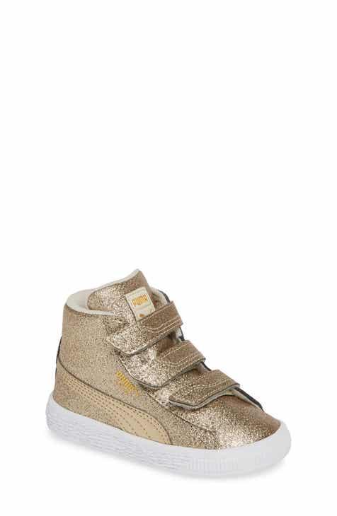 PUMA Basket Glitz Sneaker (Baby, Walker, Toddler, Little Kid   Big Kid) a672a1034619