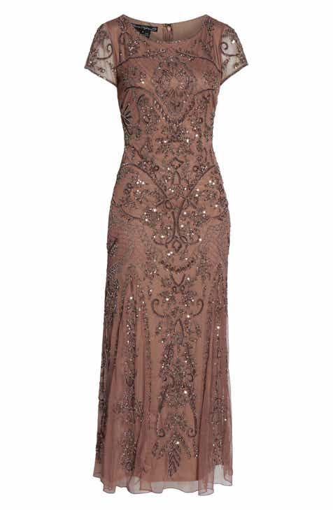 fed036c8e15 Pisarro Nights Embellished Mesh Gown (Regular   Petite)