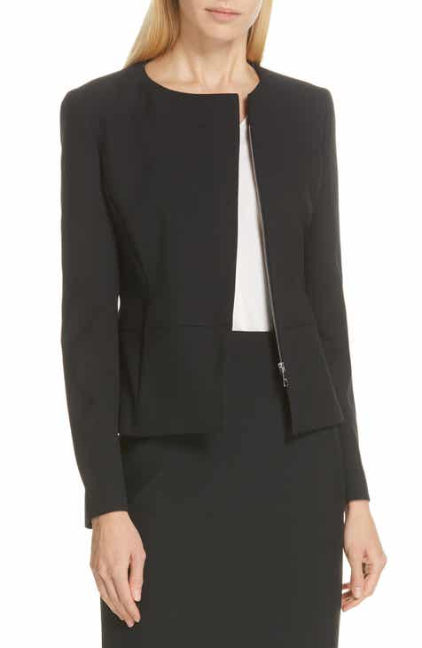 BOSS Jaina Soft Stretch Suit Jacket by BOSS HUGO BOSS